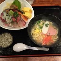 九州池魚海鮮丼+ミニ沖縄そば