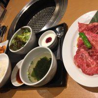 神戸牛カルビ(120g)・ライス・スープ・サラダ・キムチ・ナムル・デザート