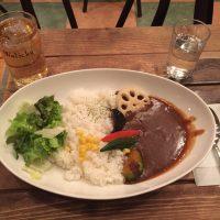 野菜カレー+ジンジャーエール