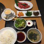 神戸牛ランチ 神戸牛カルビ(120g)・ライス・スープ・サラダ・キムチ・ナムル・デザート・コーヒー(ホット)