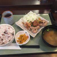 チキン竜田のゆず胡麻ぽん酢定食