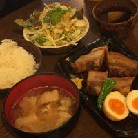 イベリコ豚の角煮定食 ライス、豚汁付