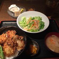 牡蠣天丼と生牡蠣(一粒)