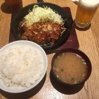トンテキ定食 メイン・ご飯・味噌汁・ドリンク