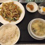 春雨とキャベツ炒め定食