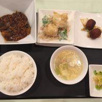 12月の一品:マーボー茄子+B.帆立貝のマヨネーズソース +小菜・ご飯・スープ・香の物