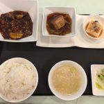 12月の一品:マーボー茄子+C.皮付き豚バラ肉の角煮 +小菜・ご飯・スープ・香の物